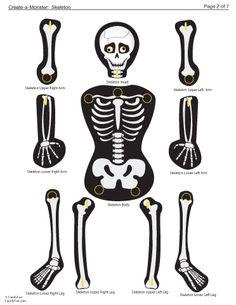 halloween skeleton bones template