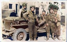 Brazilian soldiers during slack in a unidentified region of Italy. (Image - WW2 In Colour)