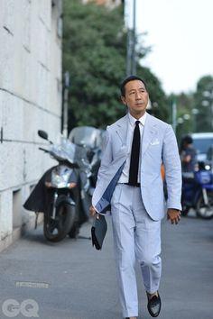 Prelude to Reality Seersucker Jacket, Gq Mens Style, Look Formal, Preppy Men, Elegant Man, Sharp Dressed Man, Jackett, Suit And Tie, Gentleman Style