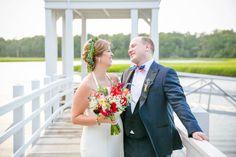 Red, White + Blue July 4th Creek Club at I'On Wedding // Dana Cubbage Weddings // Charleston SC Wedding Photography