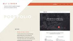 Showcase of Web Design Layouts with Angled Lines