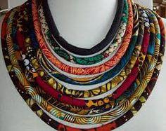 www.cewax.fr aime ce collier style ethnique tendance tribale chic tissu africain wax