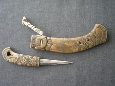 Japanese Ainu Makiri Knife, Hokkaido, Japan