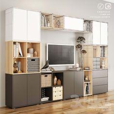models: Other - EKET storagesystem Living Dining Room, Eket, Home And Living, Ikea, Home Living Room, Ikea Design, Home, Ikea Living Room, Home Office Design