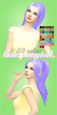 Hello everyone! I am back with a very cute ponytail! I hope you will enjoy :) • EA COLORS • My Natural/Unnatural palette • Base game compatible • Not hat compatible • If you recolor or use, please tag...