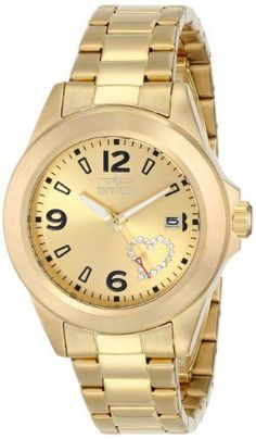 Women's Wrist Watches - Invicta Womens 16327 PRO DIVER Analog Display Japanese Quartz Gold Watch * Want to know more, click on the image.