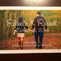 Rebecca & Russel's absolutely adorable #SaveTheDate Magnets! #lovemsw [Our Sweet Love save the date magnet]