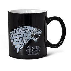 "Game Of Thrones - ""Winter Is Coming Stark"" Black & White Mug  Manufacturer: SDToys Barcode: 8436535273015 Enarxis Code: 012341 #toys #mug #Game_of_Thrones #Stark #tvseries"