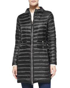 T95HS Moncler Aubry Long Mock-Neck Puffer Jacket   $1,095  Bergdorf Goodman