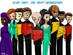 Star Trek: The Next Generation by MoodyBeatleGirl.deviantart.com on @deviantART