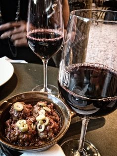 Spanish meatballs and red wine at Ibérica La Terraza, Cabot Square
