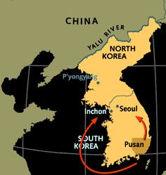 With its backs against the wall in Pusan, the U.S. launched an amphibious invasion into Incheon that reversed the course of the war.