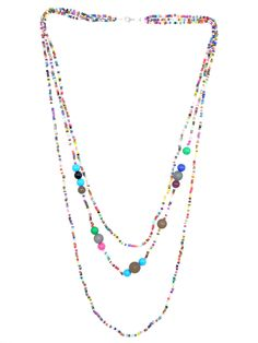 Multi Colored Long Beaded Necklace - $15.00 : FashionCupcake, Designer Clothing, Accessories, and Gifts