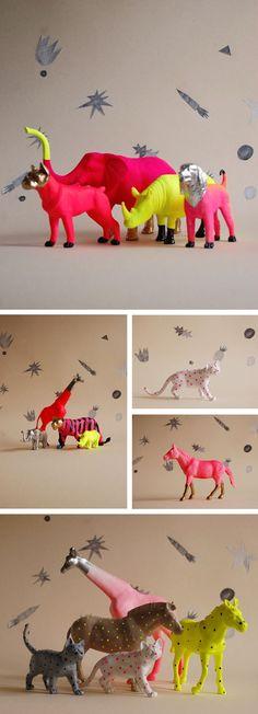 Fluor animals cool idea to reuse old plastic animals