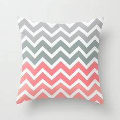 Chevron Pink Fade Throw Pillow by RexLambo - $20.00