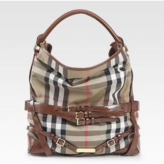 #Burberry Large Check Hobo found on Polyvore