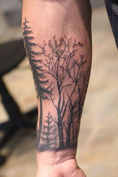 Forest Tattoo On Forearm