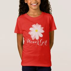 Cute flower girl t shirt for kids | wedding floral