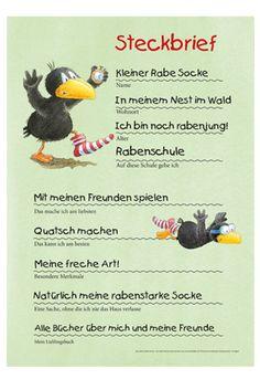Alles über den kleinen #RabeSocke Literacy, Kindergarten, Going Away, Group, First Grade, Deutsch, Birthday, Kindergartens, Preschool
