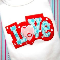 Bring in the season with Applique Market's great selection of special designs. Customized clothing with this love 2 layer applique design is the perfect gift to celebrate Valentine's Day.