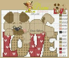 Cross Stitch Love, Cross Stitch Alphabet, Cross Stitch Animals, Cross Stitch Charts, Cross Stitch Designs, Cross Stitch Patterns, Pixel Pattern, Dog Pattern, Plastic Canvas Crafts