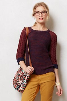 $148 Corca Pullover  I love this! The colors and combination of stitches #anthropologie