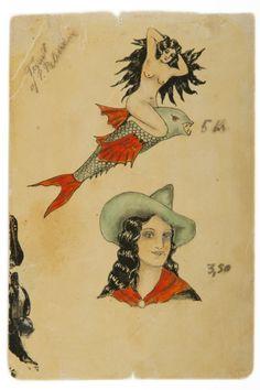 Vintage sailor tattoo designs from 1920s & 1930s Denmark
