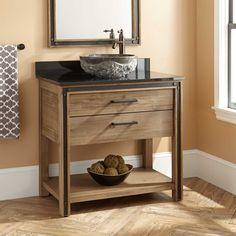 "36"" Celebration Vessel Sink Vanity - Rustic Acacia - Bathroom"
