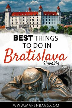 Top things to do in Bratislava, Slovakia! Read further to know how to experience the Slovakian culture, food, and architecture! Most of the tips here are free, so enjoy! #Bratislava #Daytrip #Slovakia #free #thingstodo #culture #food #Europe #Statues #castle #travel #OldTown #Budapest #Vienna