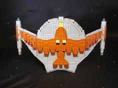 romulan bird of prey 008 Lego Star Trek, Trek Ideas, Star Trek Series, Cool Lego Creations, Lego Moc, Birds Of Prey, Cthulhu, Legos, Sci Fi