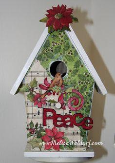 Christmas Birdhouses Crafts.85 Best Christmas Birdhouse Images Bird Houses