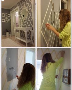 Yapim aşamalarini sizin icin fotografladim - Home Decoraiton Diy Wall Painting, Diy Resin Crafts, Wall Decor Design, Room Paint, Diy Home Decor, Interior Decorating, Sweet Home, Bedroom Decor, House Styles