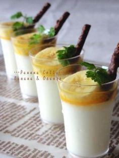 「バナナのパンナコッタ。オレンジソース。」ChococoHS | お菓子・パンのレシピや作り方【corecle*コレクル】