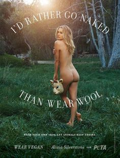 Here's Alicia Silverstone Naked in a Forest  - Esquire.com