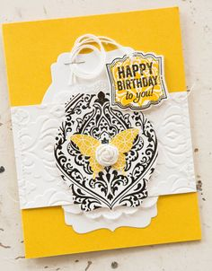 Birthday card using new product from Stampin' Up 2013-2014 catalog