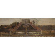 English School, Prospective of Easton Neston, ca 1750, 23x68.5, 7800 gbp