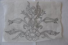 Border Embroidery, Hand Work Embroidery, Embroidery Patterns, Needlepoint Stitches, Needlework, Floral Rug, Floral Design, Page Borders Design, String Art Patterns