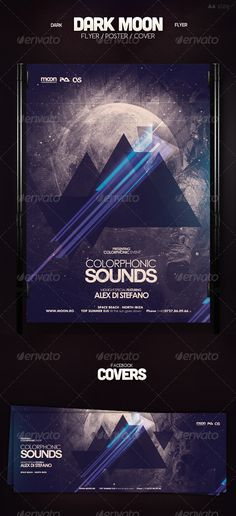 Dark Moon Flyer #GraphicRiver Dark Moon Flyer – This flyer / poster can be used to promote an electronic music event or a one night stand club party. This psd template is suitable for any space themed event or for a dubstep, drum n bass, techno, minimal and house music flyer. It's a futuristic flyer with a dark touch perfect for any EDM event. Dark Moon Flyer Features Contains 2 PSD Files 1 Facebook Event Covers PSD File / 8.5×11.9 inch / CMYK Print ready / 300dpi / Bleed .25 Well Organized…