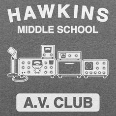 Hawkins AV Club - Guys Tee, Grey Heather, Large