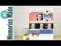 Memories Made #5 Scrapbooking Process Video: You Are Awesome - YouTube
