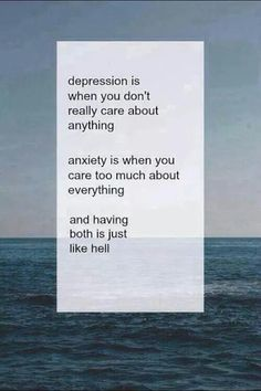 Unless you have suffered from depression and anxiety, you can never understand the person.
