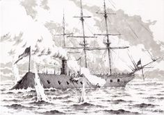 08.03.1862, CSS Virginia vs USS Cumberland   My artwork, 2017.