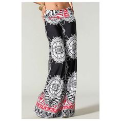 Sugar Rock Women Paisley Palazzo Pants Fold-Over Waist Wide Leg & Laundry Washing Bag Boho Fashion, Fashion Outfits, Womens Fashion, Fashion Ideas, Fashion Inspiration, Black Palazzo Pants, Pants Outfit, Dress Pants, Boho Chic