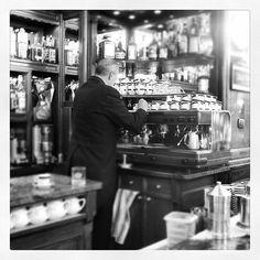 Making espresso at Caffe Gilli Florence