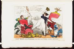 15 May 1810.Bodleian Libraries,Three weeks after marriage,or- the great little emperor playing at Bopeep.Caricature of Napoleon I. (British political cartoon)