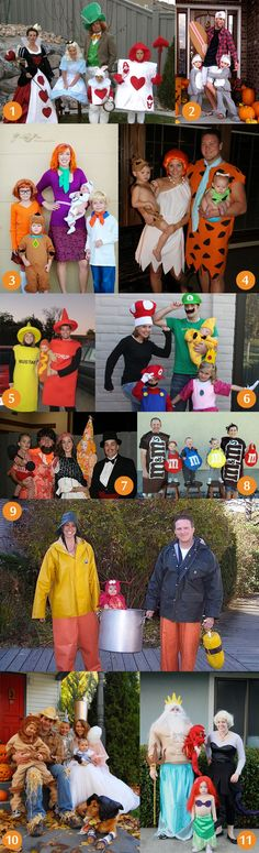 Halloween-Family-Costumes, so cute! Next year..