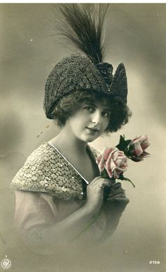 An original vintage French postcard from the early 1900's.