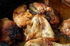 Poulet doré au sirop d'érable