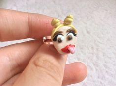 MILEY CYRUS RING Kawaii Kitsch Chibi Pop by FlamingosAndGiraffes