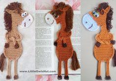 He encontrado este interesante anuncio de Etsy en https://www.etsy.com/es/listing/154223980/025-horse-bookmark-amigurumi-crochet